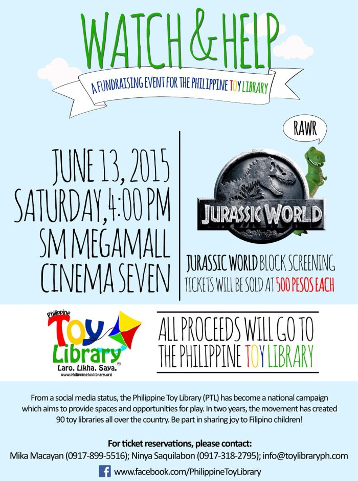 Jurassic World block screening for PTL