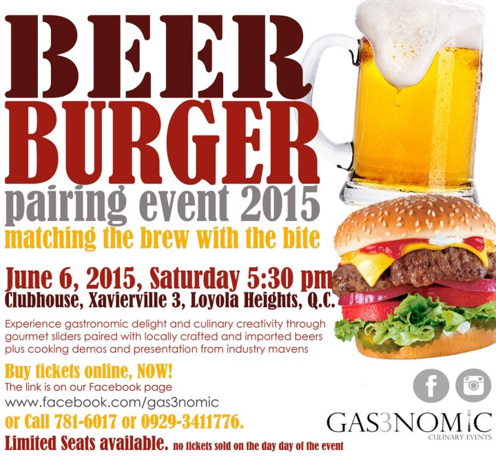 Gas3nomic Beer and Burger pairing event