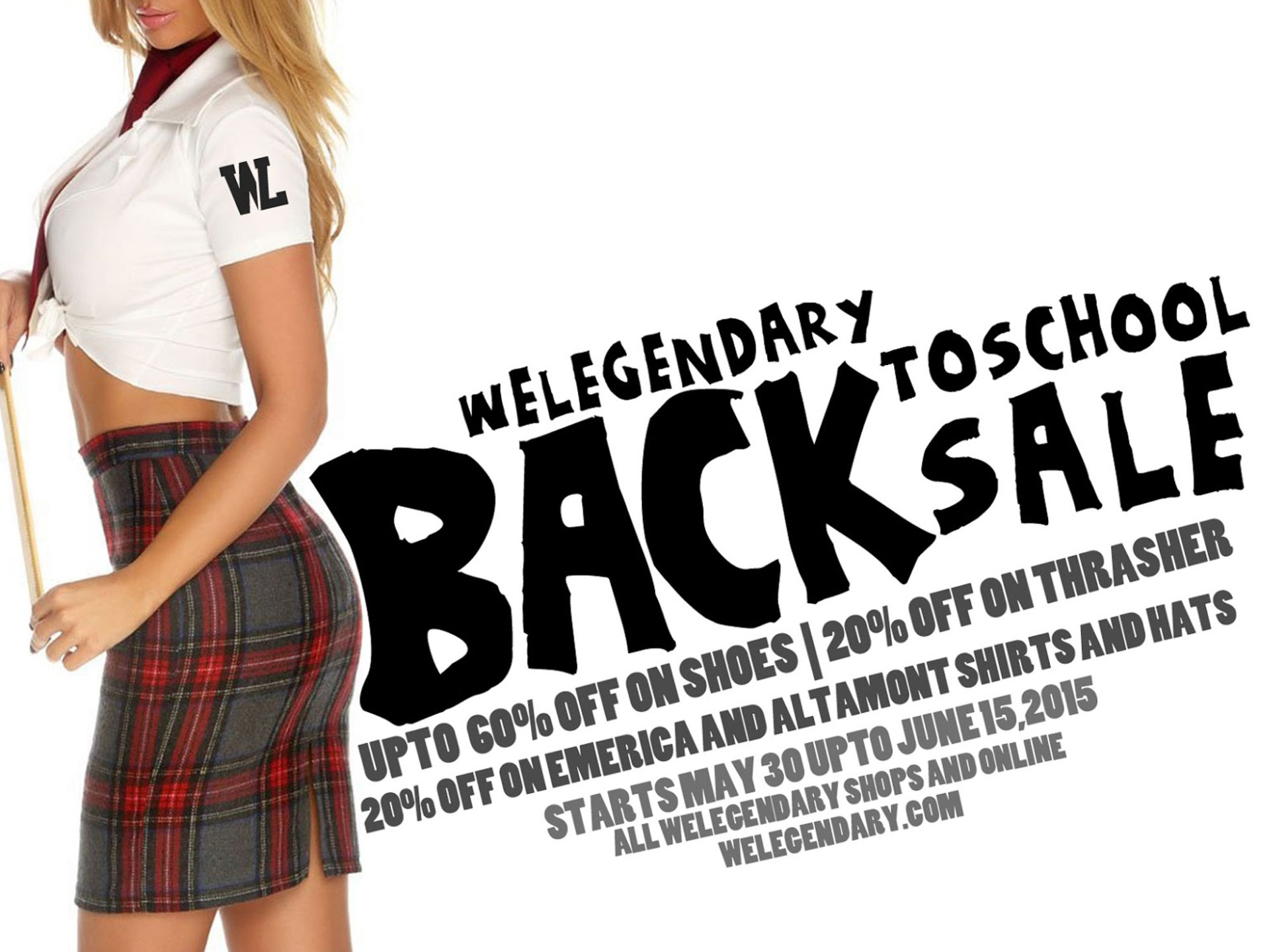 WeLegendary Back to School sale 2015