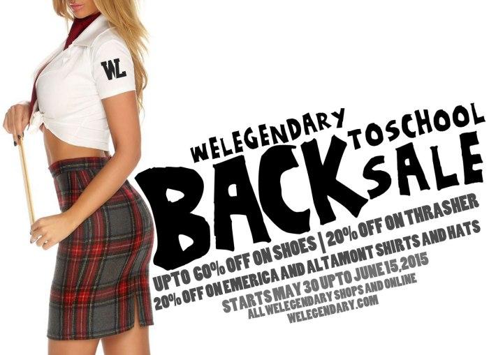 WeLegendary Back to School SALE 2015