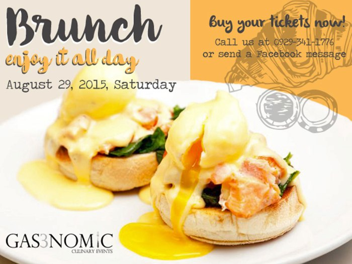 Gas3nomic Brunch Event